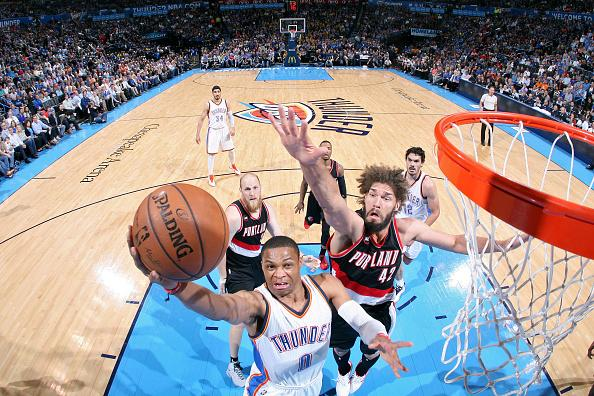 Russell Westbrook Dials Up Yet Another Amazing Game To Keep OKC's Playoff Hopes Alive
